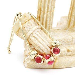 Beautiful deep red crystal bracelet
